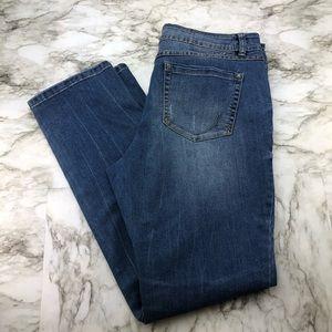 INC Straight Leg Curvy Fit Stretch Blue Jeans 12